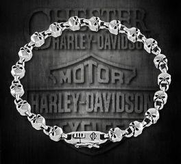 Harley-Davidson® Sterling Silver Willie G Skull Bracelet, Silver Studio Co. Ltd. HDBR210