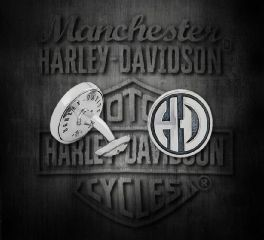 Harley-Davidson® Silver Plated H-D® Cuff Links, Silver Studio Co. Ltd. HDCL005