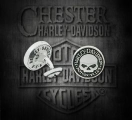 Harley-Davidson® Silver Plated Willie G Skull Cuff Links, Silver Studio Co. Ltd. HDCL004
