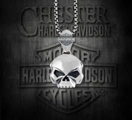 Harley-Davidson® Willie G Skull Sterling Silver Pendant, Silver Studio Co. Ltd. HDP163