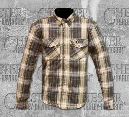 Merlin Men's Brown Axe Checkered Long Sleeve Shirt MCP004