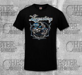 Harley-Davidson® Men's Black Aged Iron Short Sleeve Tee, RK Stratman Inc. R003236