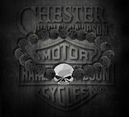 Harley-Davidson® Sterling Silver Lava Stone Bracelet, Silver Studio Co. Ltd. HDBR167