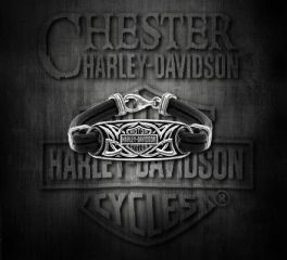 Harley-Davidson® Sterling Silver and Leather Celtic Bracelet, MOD Jewelry Group Inc. HDB0381