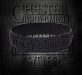 Harley-Davidson® Embossed H-D® Tire Track Wristband, Global Products, Inc. WB51622
