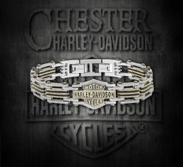 Harley-Davidson® Stainless Steel Bar & Shield® Chain Bracelet, MOD Jewelry Group Inc. HSB0188