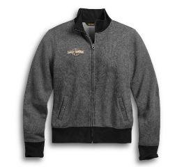 Harley-Davidson® Chain Stitch Zip-Front Mockneck 96171-20VW