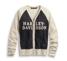 Harley-Davidson® Chain Stitch Colorblock Cardigan 96172-20VW