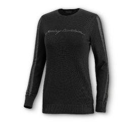 Harley-Davidson® Sheer Stripe Wool-Blend Sweater 96180-20VW