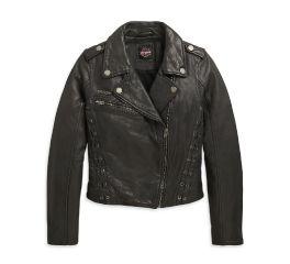 Harley-Davidson® Lace-Up Leather Slim Fit Jacket 98607-20VW