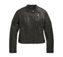 Harley-Davidson® Leather Biker Sim Fit Jacket 98608-20VW