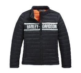 Harley-Davidson® Metallic Logo Puffer Slim Fit Jacket 98626-20VW