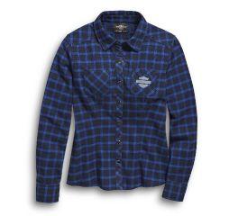 Harley-Davidson® Blue Plaid Flannel Shirt 96455-20VW