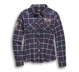 Harley-Davidson® Skull No1 Plaid Flannel Shirt 96457-20VW