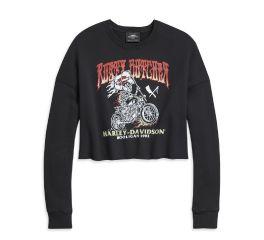 Harley-Davidson® H-D x Rusty Butcher Raise The Flag Cropped Pullover Sweatshirt 96533-20VW
