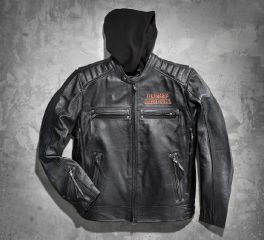 Harley-Davidson® Men's Burning Skull 3-in-1 Leather Jacket 98062-13VM