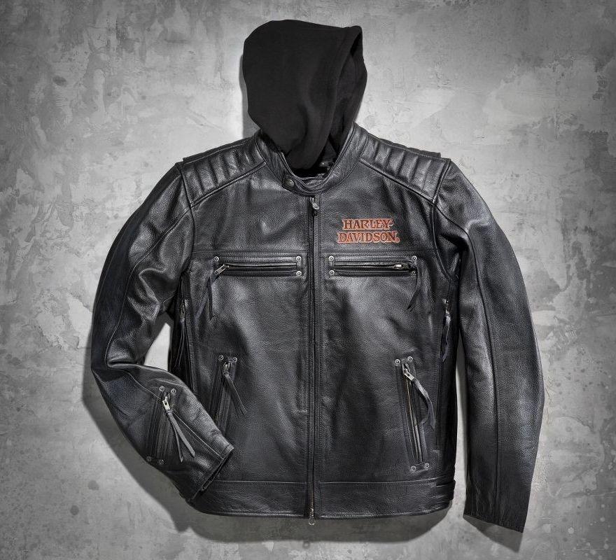 Harley-Davidson® 's Burning Skull 3-in-1 Leather Jacket 98062 ...