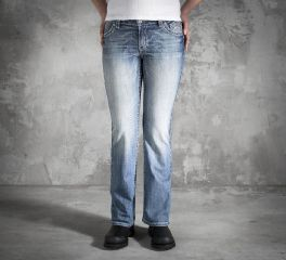 Harley-Davidson® Women's Wing Bling Low-Rise Jeans 99118-14VW
