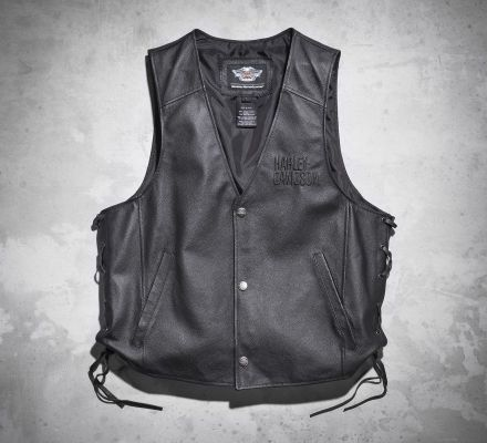 Harley-Davidson® Men's Tradition Leather Vest 98007-11VM