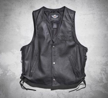 Men's Tradition Leather Vest, Harley-Davidson® 98007-11VM