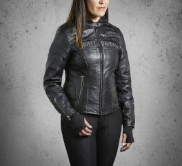 Harley-Davidson® Women's Miss Enthusiast 3-in-1 Leather Jacket 98030-12VW