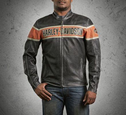 Men's Victory Lane Leather Jacket, Harley-Davidson® 98057-13VM