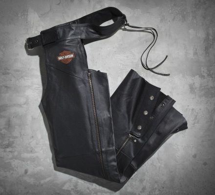 Men's Stock Leather Chaps, Harley-Davidson® 98090-06VM