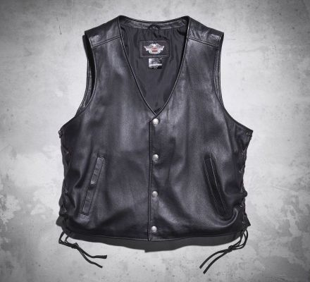 Men's Pathway Leather Vest, Harley-Davidson® 98103-02VM