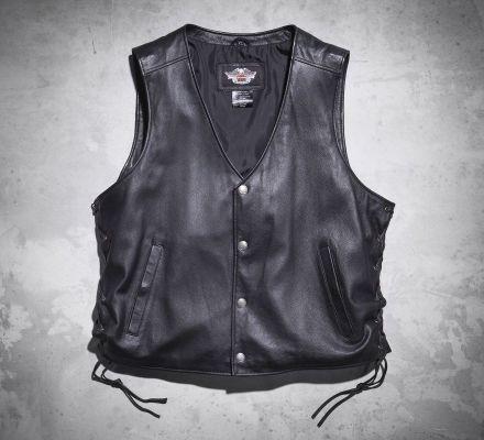 Men's Pathway Leather Vest 98103-02VM