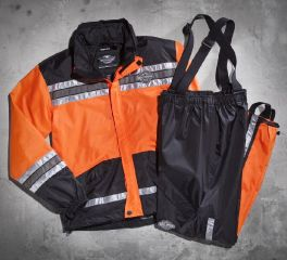 Men's Hi-Vis Orange Rain Suit