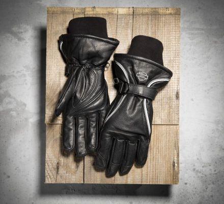 Women's Windshielder Full-Finger Leather Gloves, Harley-Davidson® 98318-11VW