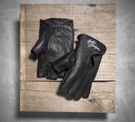 Women's Perforated Fingerless Gloves