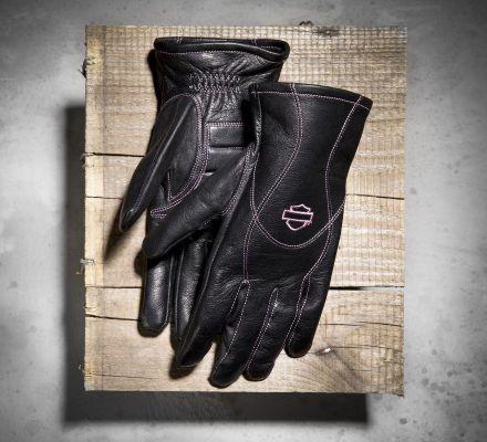 Women's Pink Label Full-Finger Gloves, Harley-Davidson® 98372-10VW