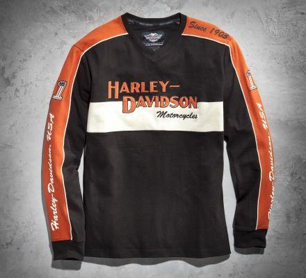 Men's Prestige Long-Sleeve Tee, Harley-Davidson® 98477-06VM