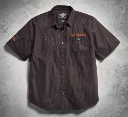 Harley-Davidson® Men's Pre-Luxe Microstripe Shirt 99002-11VM