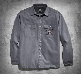 Men's Skull Shirt Jacket