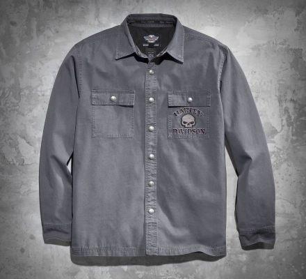 Men's Skull Shirt Jacket, Harley-Davidson® 99011-11VM