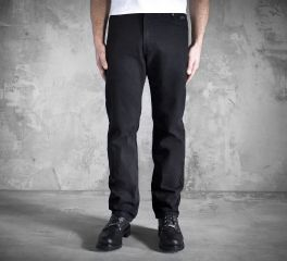 Men's Original Traditional Fit Jeans - Black Denim