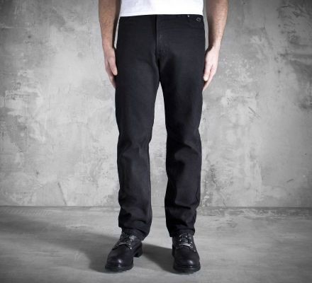 Men's Original Traditional Fit Jeans - Black Denim 99023-05VM