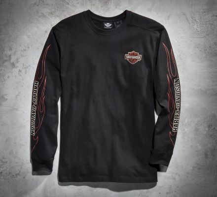 Harley-Davidson® Men's Flames Long-Sleeve Tee 99042-09VM