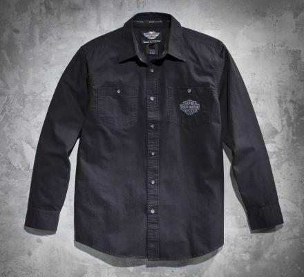 Men's Tonal Flames Long-Sleeve Shirt, Harley-Davidson® 99072-12VM
