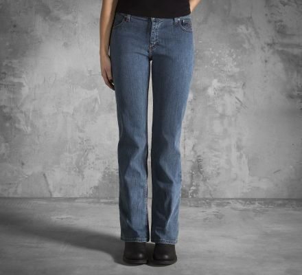 Women's Mid-Rise Medium Indigo Bootcut Jeans, Harley-Davidson® 99113-11VW