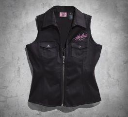Harley-Davidson® Women's Pink Label Lace-up Shirt 99178-12VW