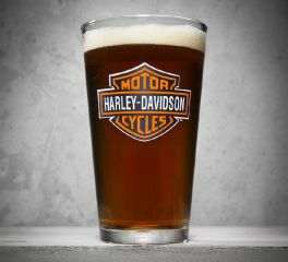 Bar & Shield Logo Pint Glass
