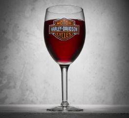 Bar & Shield Logo Wine Glass