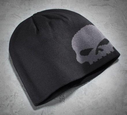 Men's Oversized Skull Knit Hat, Harley-Davidson® 99472-10VM