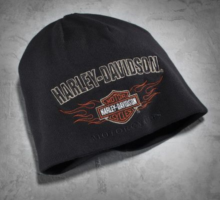 Harley-Davidson® Men's Reversible Flame Knit Hat 99509-12VM