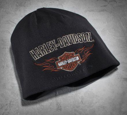 Men's Reversible Flame Knit Hat, Harley-Davidson® 99509-12VM
