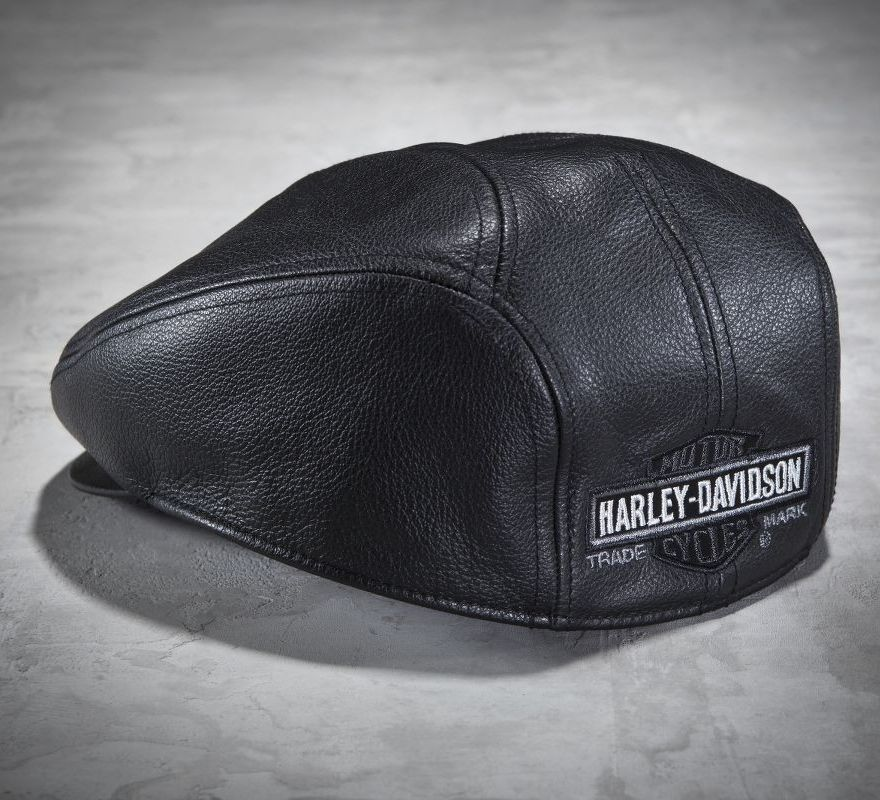 Harley-Davidson® Men s Nostalgic Leather Ivy Cap 99561-04V  10251dbbcfd