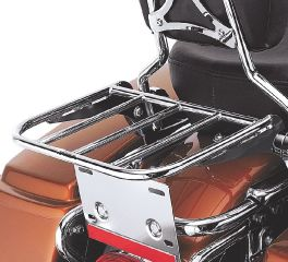 Luggage Rack for H-D Detachables Passenger Sissy Bar Upright